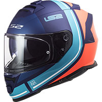Ls2 Ff800 Storm Slant Helmet Blue Orange