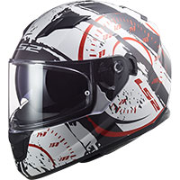 Ls2 Ff320 Stream Evo Tacho Helmet White Red