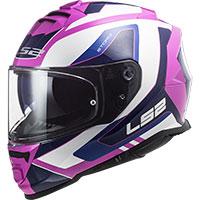 Ls2 Ff800 Storm Techy Helmet White Pink
