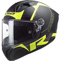 Casco Ls2 Ff805 Thunder Carbon Racing1 Giallo