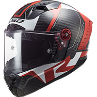 Casco Ls2 Ff805 Thunder Carbon Racing1 Rosso