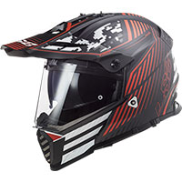 Ls2 Mx436 Pioneer Evo Saturn Helmet Black Red
