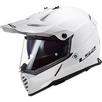 LS2 パイオニア エボ MX436 ソリッドホワイト