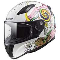 Ls2 Rapid Mini Ff353j Crazy Pop Bianco Rosa Bimbo