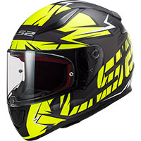 Ls2 Ff353 Rapid Cromo Matt Black Hv Yellow