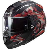 Ls2 Ff397 Vector Hpfc Evo Stencil Nero Opaco Rosso
