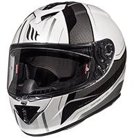 Mt Helmets Rapide Duel D7 Bianco Argento