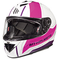 Mt Helmets Rapide Duel H9 Bianco Rosa