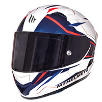Mt Helmets Kre Sv Intrepid B2 Bianco Rosso