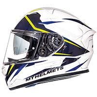 Mt Helmets Kre Sv Intrepid B3 Bianco Giallo