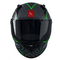 Mt Helmets Kre Plus Carbon Ruvi C6 Verde Fluo