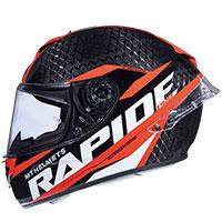 Mt Helmets Rapide Pro Carbon C5 Nero Rosso