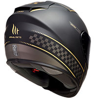 Mt Helmets Rapide Revival A1 Nero Opaco