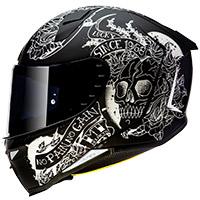 Casco Mt Helmets Revenge 2 Skull&roses A1