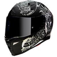 Mt Helmets Revenge 2 Skull&roses A1 Helmet