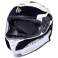 Mt Helmets Targo Enjoy D3 blanco amarillo
