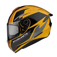 Casco Mt Helmets Targo Pro Sound D3 Giallo