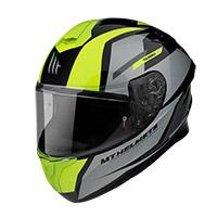 Casco Mt Helmets Targo Pro Sound A3 Giallo Fluo