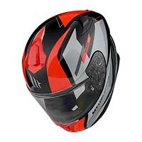 Casco Mt Helmets Targo Pro Sound A5 Rosso
