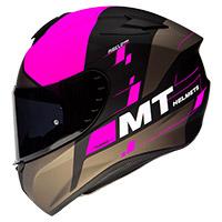 Casco Mt Helmets Targo Rigel A8 rosado opaco