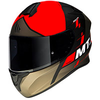 Casco Mt Helmets Targo Rigel A3 rojo opaco