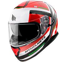 Casco Mt Helmets Thunder 3 Sv Carry C5 rojo