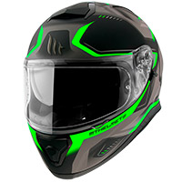 Casco Mt Helmets Thunder 3 Sv Turbine C6 verde