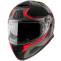 Casco Mt Helmets Thunder 3 Sv Turbine C5 rojo