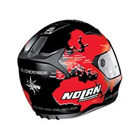 Nolan N60.5 Gemini Replica Checa Full Face Helmet Flat Black Red - 2