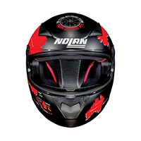 Nolan N60.5 Gemini Replica Checa Full Face Helmet Flat Black Red - 3