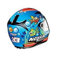 Nolan N60.5 Gemini Replica Melandri Aquarium Full Face Helmet Metal Pearl Blue