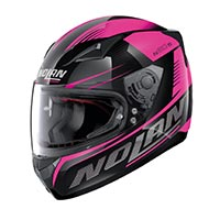 Nolan N60.5 Motrico Full Face Helmet Glossy Black Purple Lady
