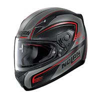 Nolan N60.5 Rapid Full Face Helmet Flat Black Red