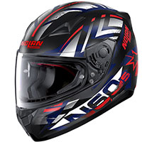 Nolan N60.5 Secutor Red Blue White Flat Black