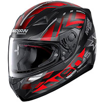 Nolan N60.5 Secutor Red Gray Flat Black