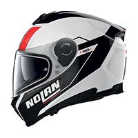 Nolan N80.8 Mandrake N-com Rosso Bianco