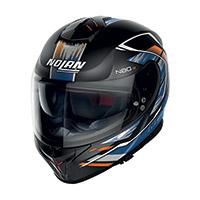 Nolan N80.8 Thunderbolt N-com Arancio Blu