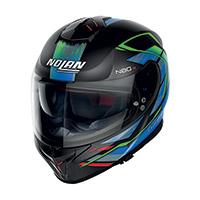 Nolan N80.8 Thunderbolt N-com Blu Verde Rosso