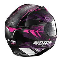 ノーラン N87 カーニバル N-Com ピンク フラット ブラック