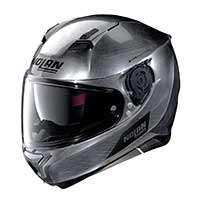 Nolan N87 Emblema N-com Full Face Helmet Scratched Chrome