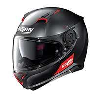 Nolan N87 Emblema N-com Full Face Helmet Black Red
