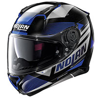 Nolan N87 Jolt N-com Metal Black Blue