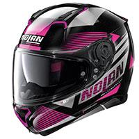 Nolan N87 Jolt N-com Metal Black Pink