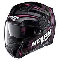 Nolan N87 Ledlight N-com Nero Fucsia