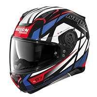 Nolan N87 Originality N-com Full Face Helmet White Red Blue