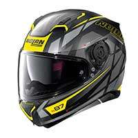 Nolan N87 Originality N-com Full Face Helmet Black Yellow