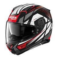 Nolan N87 Originality N-com Full Face Helmet White Red Gray