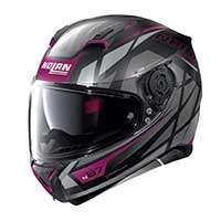 Nolan N87 Originality N-com Full Face Helmet Black Purple Lady