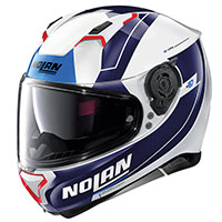 Nolan N87 Skilled N-com Blue Metal White