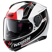 Nolan N87 Skilled N-com Metal White Black Red
